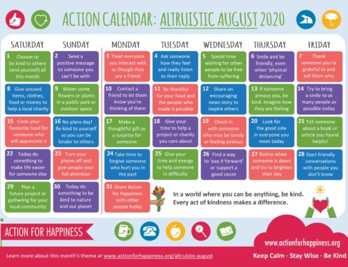 AUGUST – Action for Happiness Calendar